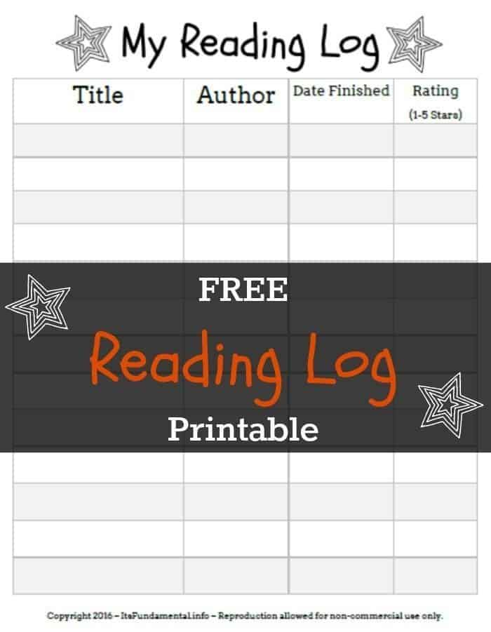 photograph regarding Free Printable Reading Logs identified as Free of charge Studying Log Printable - Feminist Guides for Children