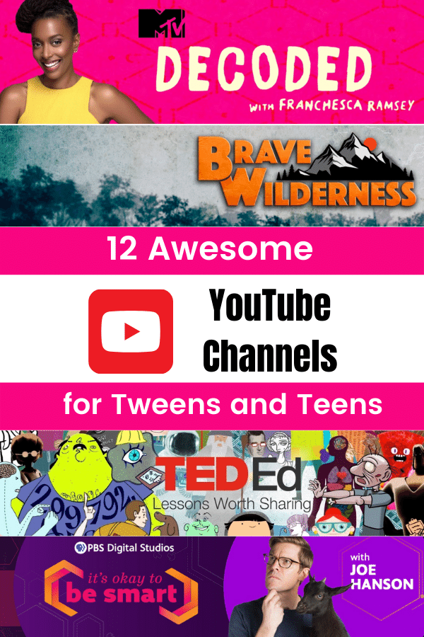 best youtube channels for tweens