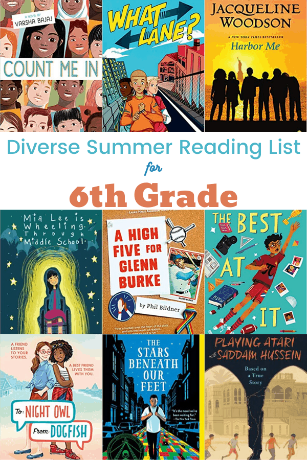 Summer Reading List for 6th Grade